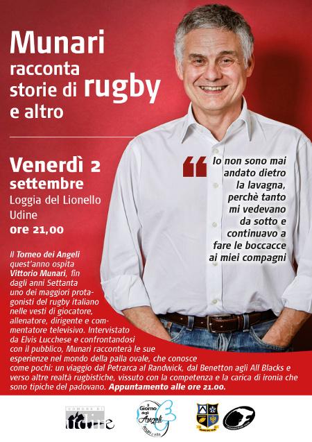 Il Torneo degli Angeli   ospita Vittorio Munari il 2.9.2016