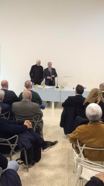 il presidente MArzio Innocenti assieme al presidente dell'Assemblea Zanandrea