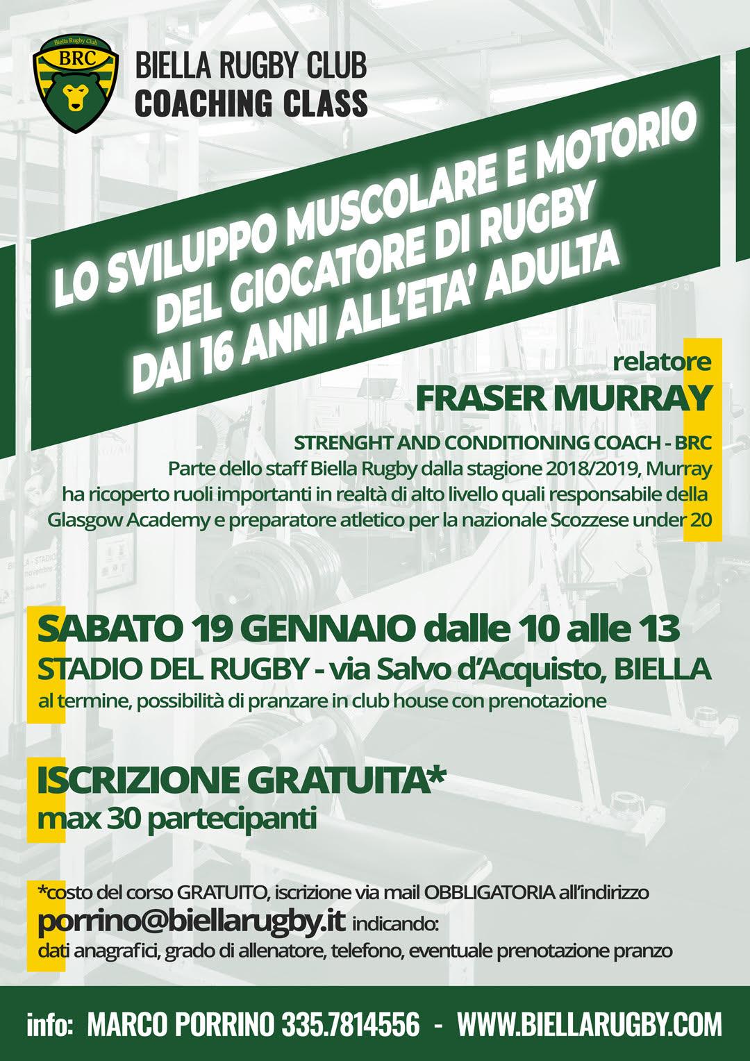 Corso Allenatori Biella Rugby 19 gennaio 2019