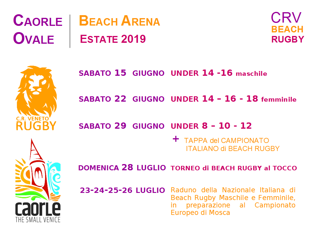 Caorle Ovale 2019 – Rugby sulla spiaggia